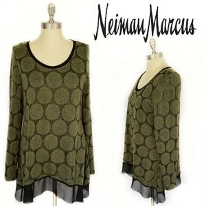 Neiman Marcus Shirttail Tunic Sweater Sz XL